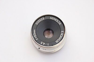 Minolta 50Mm F4.5 E.rokkor Enlarging Lens For 35Mm