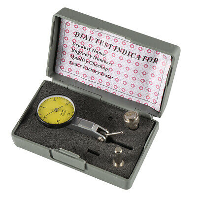"New Precision Yellow 0.030"" Test Indicator 0. 0005"" GR Dial Reading 0-15-0"
