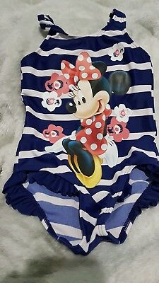Lovely Girls George Disney Minnie Mouse Swimming Costume Age 2-3 Years