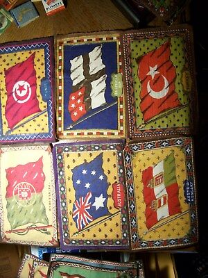 """Lot Of 20+ Vintage Tobacco Flags Foreign Countries 5 X 8"""" 2 Us Flags"""