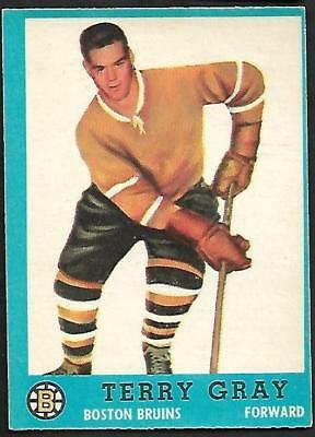 1962-63 Topps Nhl Hockey #20 Terry Gray, Boston Bruins