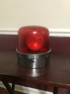 Vintage 1950's SIRENO Beacon Fire Police Rotator Red Emergency Light Working
