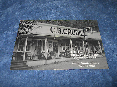 C.B. Caudill Store Blackey Kentucky 60th Postcard picture Letcher County