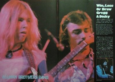 Allman Brothers Band Win, Lose or Draw AD GREGG 1975 CLIPPING JAPAN U1 IEV2 4P