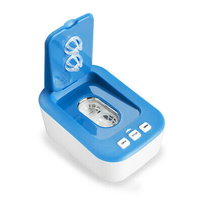 Mini Portable Ultrasonic Contact Lens Cleaner Blue Q1N6