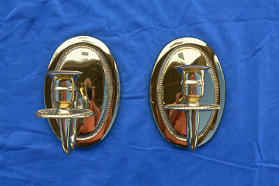 2 Virginia Metalcrafters Federal Brass Candle Sconces #2014