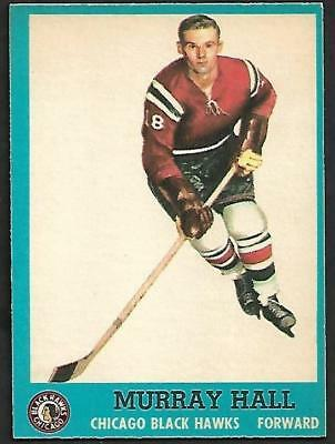 1962-63 Topps Nhl Hockey #43 Murray Hall Rc, Chicago Black Hawks
