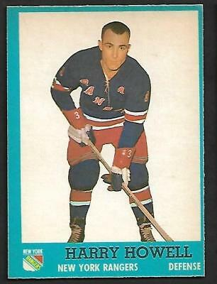 1962-63 Topps Nhl Hockey #46 Harry Howell, New York Rangers