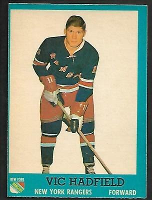 1962-63 Topps Nhl Hockey #60 Vic Hadfield Rc, New York Rangers