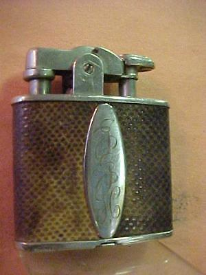 1920s Original Reptile Skin Covered AMW Ronson Lighter De-Light - Nr. Mint