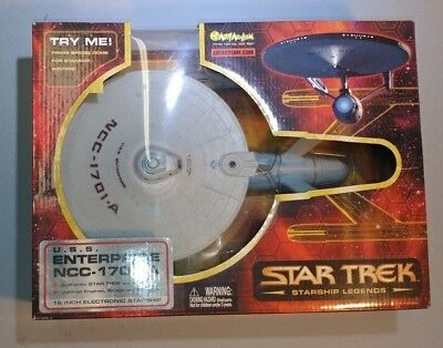 "2003 Art Asylum STAR TREK USS Enterprise NCC-1701-A 16"" Starship Legends NEW"