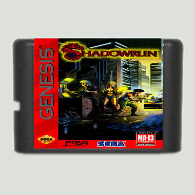 Shadowrun 16 bit SEGA MD Game Card For Sega Mega Drive For Genesis