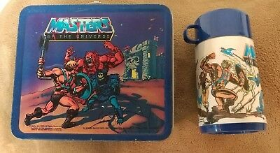 Masters of the Universe Metal Lunch Box & thermos Vintage 1983
