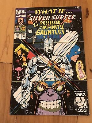 What If #49 Marvel Comics 1993 Silver Surfer Possessed the Infinity Gauntlet