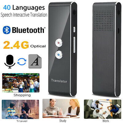 Portable Bluetooth Smart Real Time 40 Language Voice Translator Travel Meeting
