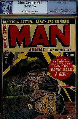 Man Comics #19- Pgx 7.0- Higrade Copy-Brodsky War Cvr-Berg/heath Artwk-1952