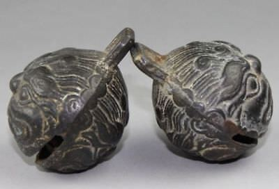 A pair of Chinese bronze bell