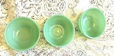 """Lot of 3 Fire King 5"""" Jadeite Chili Cereal Bowls / Authentic Vintage Fire-King"""