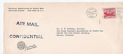 National Association Of Credit Men Confidential New York, Ny 5/27/1948 Air Ail