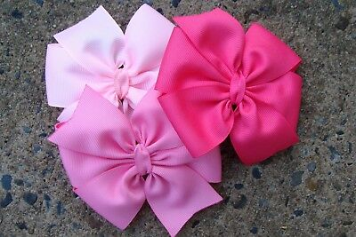 """LOT OF 12 Girl's 5 Inch HAIRBOWS Hair Bows  - Choose Your Colors - 5"""" Hair Bows"""