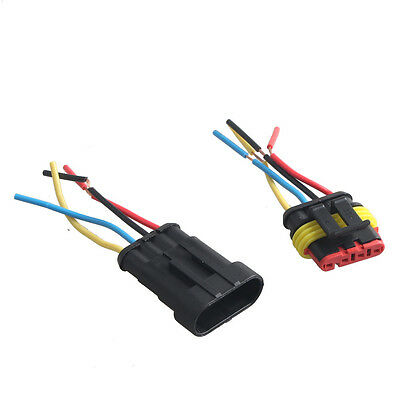 4 Pin Car Motor Waterproof Electrical Connector Plug Socket Wire Cable Sales