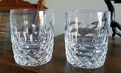 """Lenox Crystal PROVIDENCE 4 1/8""""  Double Old-fashioned Glass Tumblers Set of 2"""