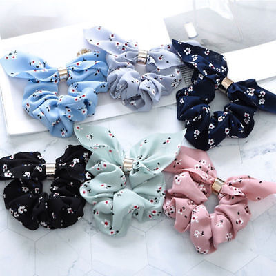 LADY Women Bow Knot Hair Rope Ring Tie Scrunchie Ponytail Holder Christmas Gift