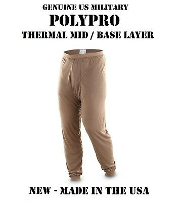 NEW US Military Issue Army / USMC Poly Pro Thermal Underwear SMALL S Pants USGI