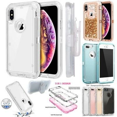 For iPhone Xs Max XR 6S PlusHeavy Duty Cover Case Shockproof Belt Clip Kickstand