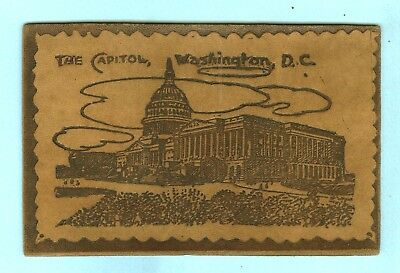 "Leather, ""THE CAPITOL, WASHINGTON, DC"", Full View of the U.S.A. Capitol..."