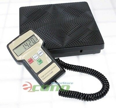 220LB Digital HVAC A/C Refrigerant Charging Recovery Weight Scale w/ Case