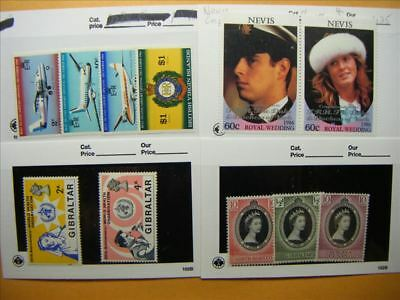 6893 Br. Commonwealth Lot of 4 Mint Stamp Packs