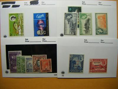 6896 Br. Commonwealth Lot of 4 Mint Stamp Packs