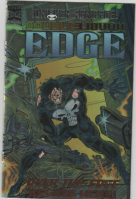 Marvel Comics Double Edge Alpha #1 Aug '95 Punisher Rampage Over the Edge begins