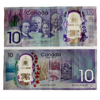 Canada/Canada 10 Dollar 2017 Pick. New Condition 3 VF/F Polymer /4492232 ##