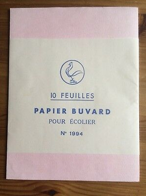 Ancienne Papeterie Vintage École 10 Buvards / Old French Stationery 10 Blotters