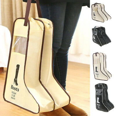Boots Storage Bag Travel Long Shoes Cover Dustproof Protector with Handle