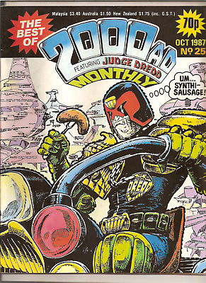 THE BEST OF 2000AD MONTHLY FEATURING JUDGE DREDD No.25,OCT 1987