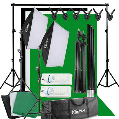 Photography Backdrops & Stand Studio Softbox Lighting Soft Box Boom Light Kit UK
