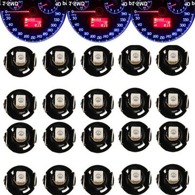 Lot20 Blue T4 T4.2 Neo Wedge 1SMD LED Light Cluster Instrument Dash Climate Bulb