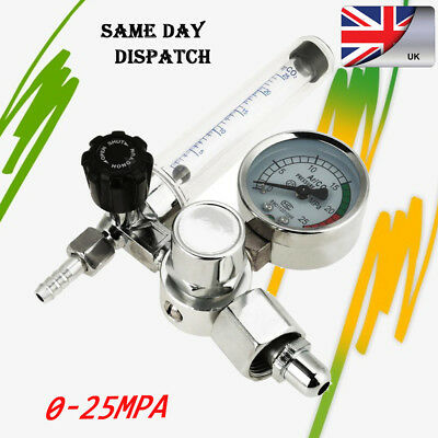 0-25MPA Argon Regulator Pressure AR Gas Flowmeter Gauge for Mig Welding Welder