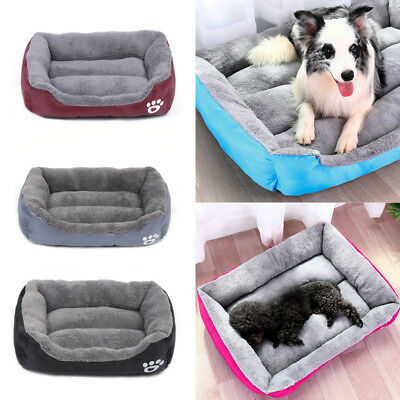 Dog Bed Deluxe Fleece Fur Cushion Pet Bed Whelping Mattress for M/L/XL Dogs& Cat