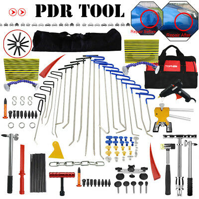 PDR Rods Removal Dent Paintless Hail Puller Repair T-bar Puller Hammer Tools Kit