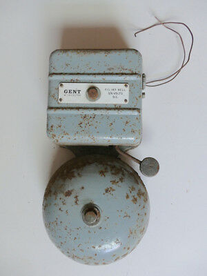 Vintage Electric Cast Iron Fire Alarm Bell (240v) By Gent Of Leicester