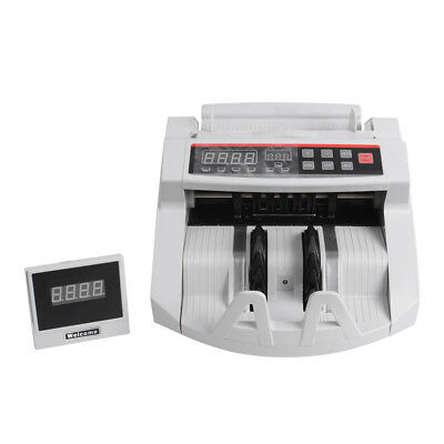 Money Bill Currency Counter Counting Machine Counterfeit Detector UV MG Cash A++