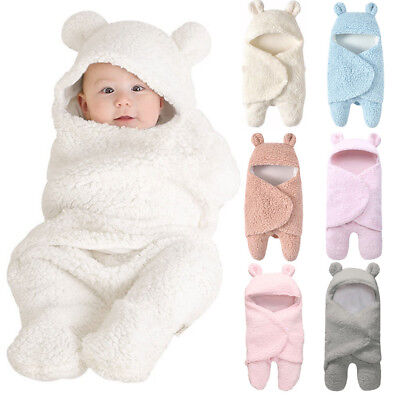 Newborn Infant Baby Swaddle Wrap Swaddling Blanket Sleeping Bag Photography Prop