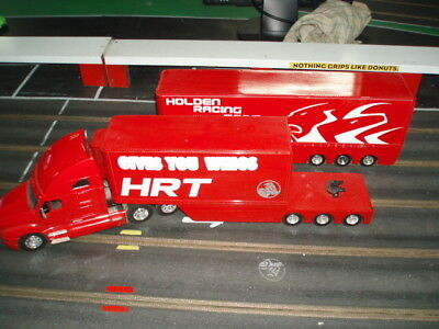 Scalextric 1:32 Holden Prime Mover with 2 trailers VG Cond