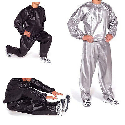 Heavy Duty Sweat Sauna Suit Gym Exercise Training Fitness Weight Loss e3