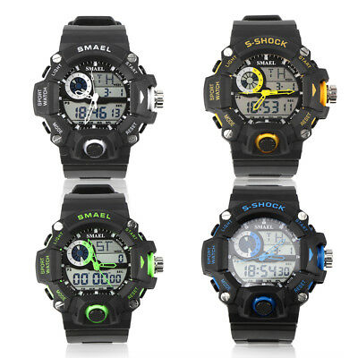SMAEL LED Digital Electronic Mens Sport Watch Dual Display Analog Wrist Watches