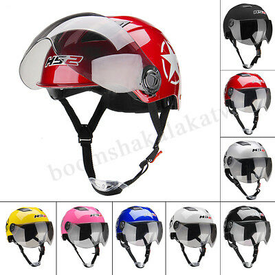 Universal Motorcycle Open Face Half Helmet Flip Up Motocross Motorbike Off Road